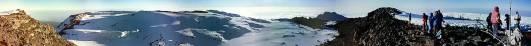Gipfelpanorama mit Furtwängler Gletscher am 17.07.1997
