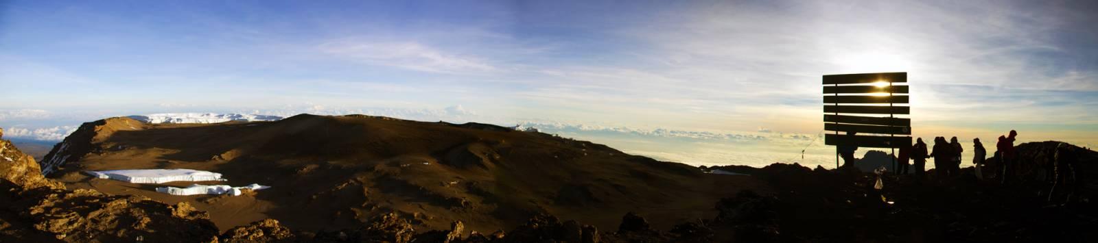 Gipfelpanorama mit Furtwängler Gletscher am 20.10.2012