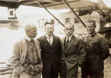 Teilnehmer am Afrikaflug von 1927.