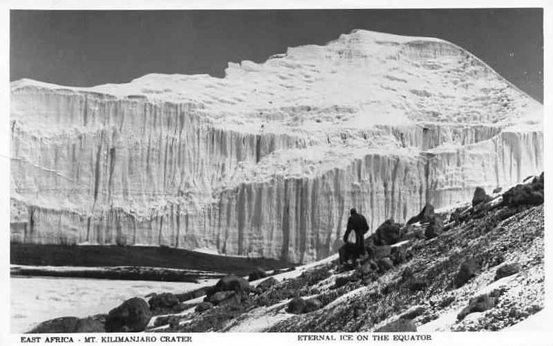 1950 - Die Gletscherwände an der Johannes-Scharte / Meyer-Scharte