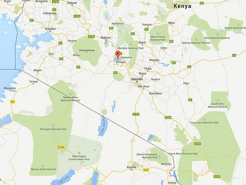 Google Maps mit Lake Naivasha