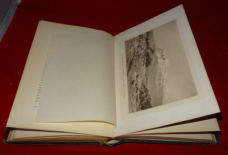06. 1890 - Ostafrikanische Gletscherfahrten, Dr. Hans Meyer, Verlag Duncker & Humblot, Leipzig,<br>Prachtausgabe in Leder und mit Goldschnitt,<br><b>Ein E.T. Compton-Bild</b>