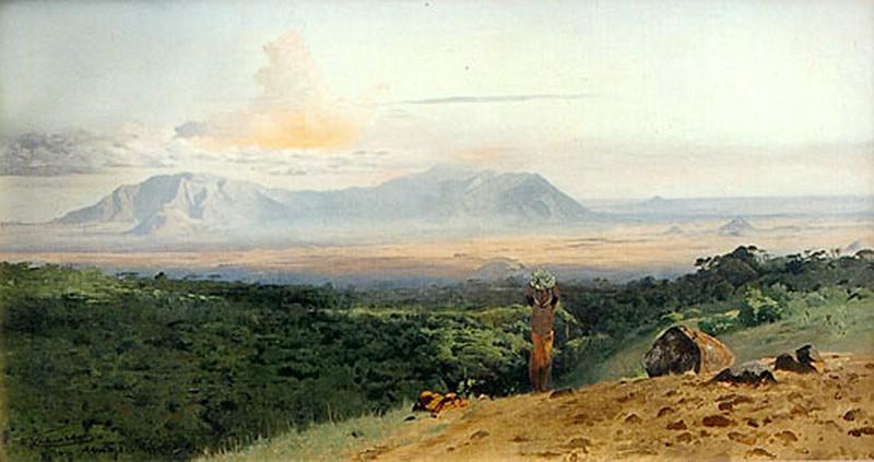 1912 - Das Nördliche Pare-Gebirge vom Kilimanscharo aus.