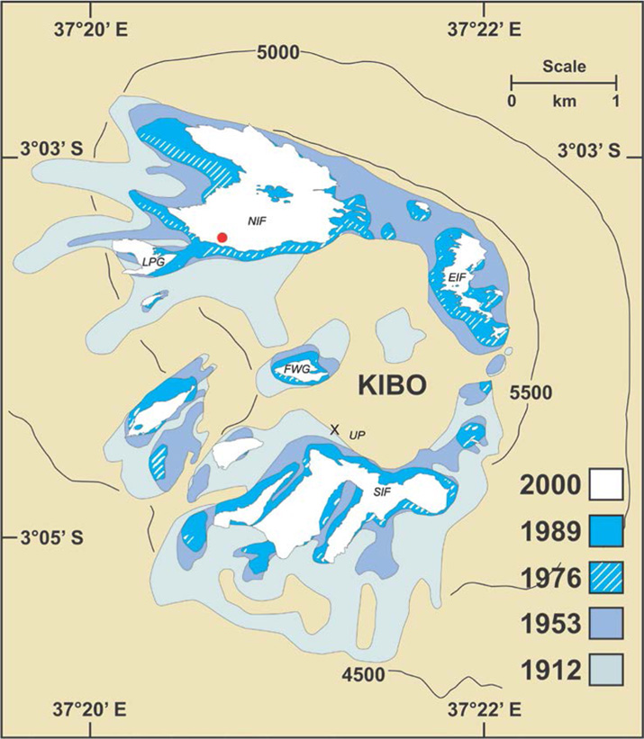 2002 - Roter Punkt - Standort der Wetterstation