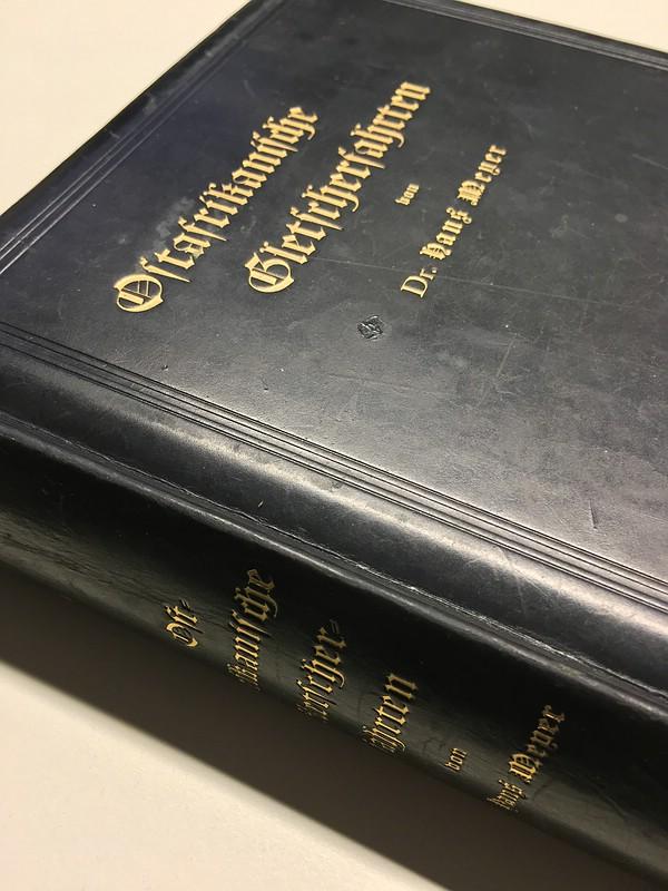 02. 1890 - Ostafrikanische Gletscherfahrten, Dr. Hans Meyer, Verlag Duncker & Humblot, Leipzig,<br>Prachtausgabe in Leder und mit Goldschnitt,<br><b>Der Buchrücken</b>