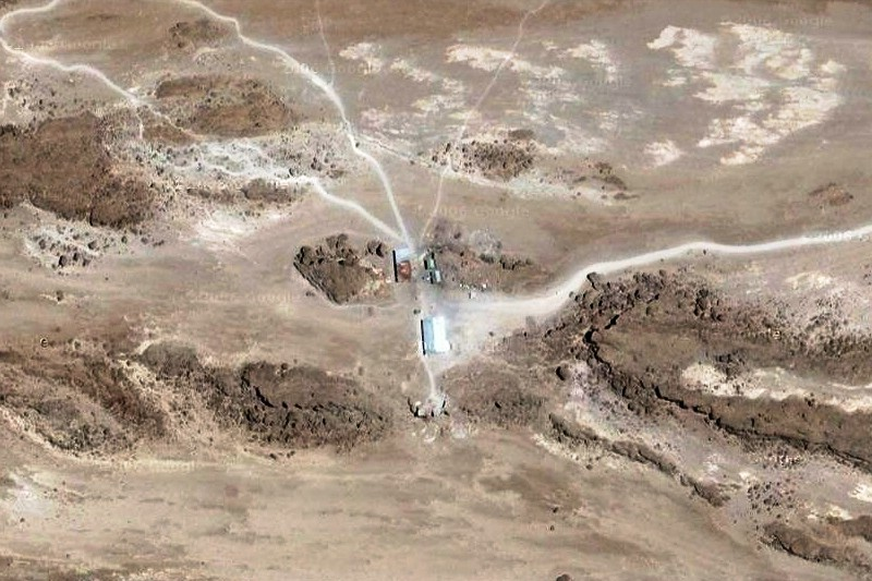 2012 - Die Kibo-Hütte in Google-Maps