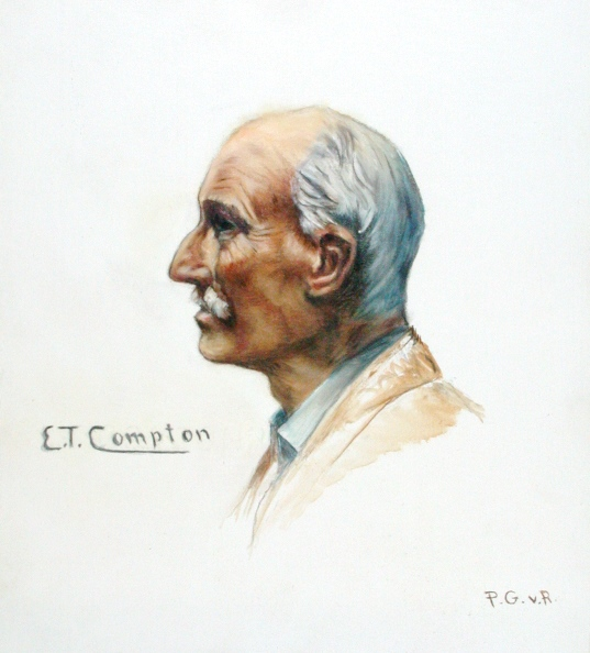 1849-1921 Portrait Edward Theodore Compton von Paul Gasteiger (1960)