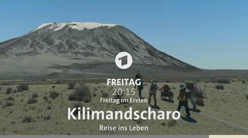 17.11.2017  - ARD - Eine Filmmontage - Der Kibo mit Gletschern, die es am Osthang nicht gibt