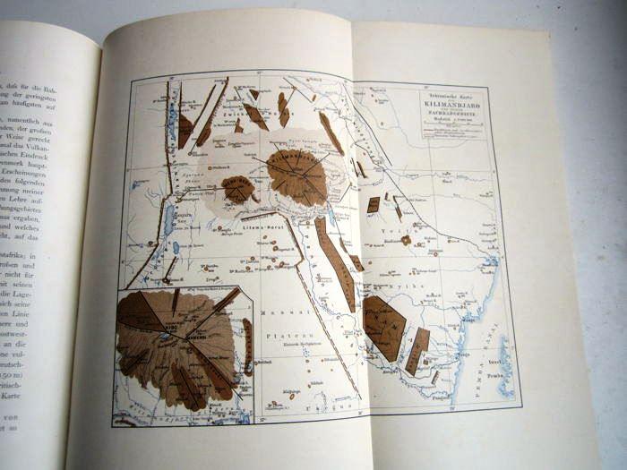 09. Der Kilimandjaro,<br>Prof. Dr. Hans Meyer, Verlag Dietrich Reimer,<br><b>Ostafrika Karte</b>