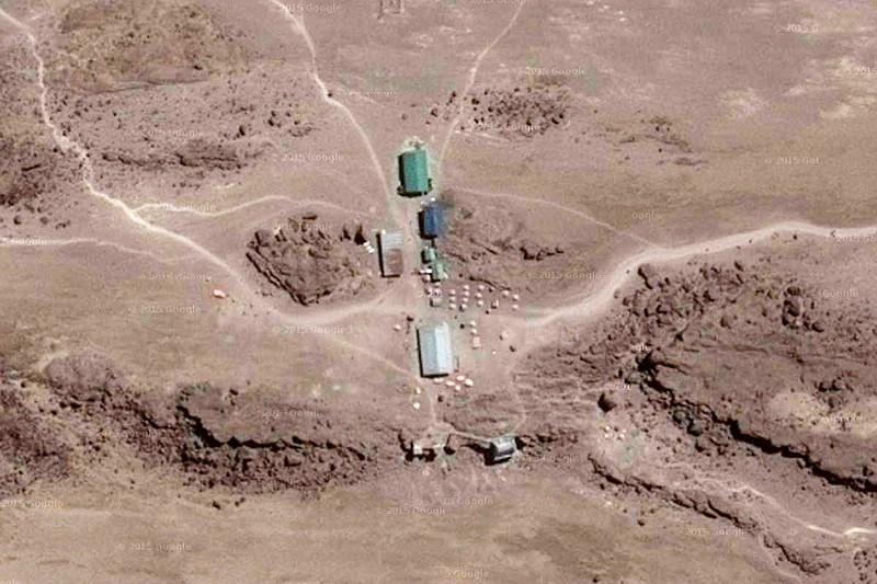 2015 - Die Kibo-Hütte in Google-Maps