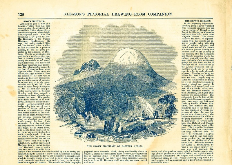 Datei:1854 The Snowy Mountain Of Africa Gleasons Pictorial.jpg