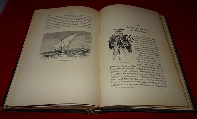 07. 1890 - Ostafrikanische Gletscherfahrten, Dr. Hans Meyer, Verlag Duncker &amp; Humblot, Leipzig,<br>Prachtausgabe in Leder und mit Goldschnitt,<br><b>Das IX. Kapitel</b>