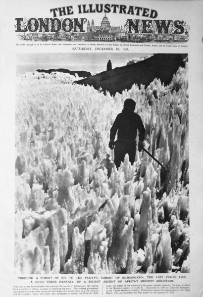 1945 - Victor Ostrowski: Büsserschnee am Kilimanjaro-Gipfel