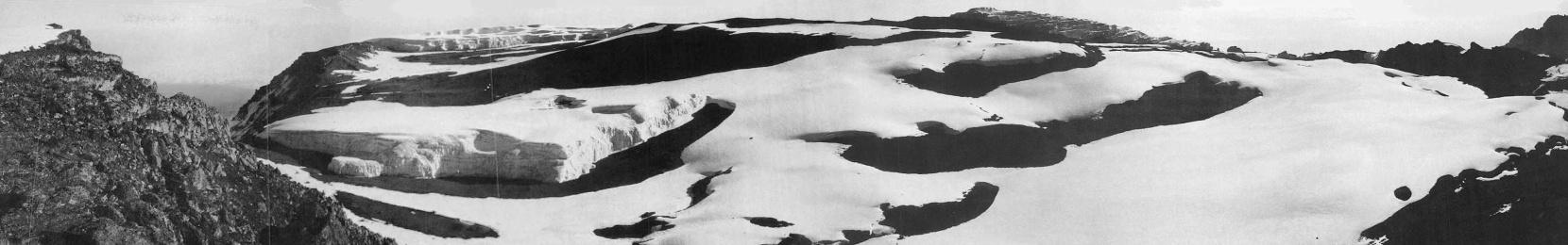 1929 - Die Kibo-Kaldera mit Furtwängler Gletscher.